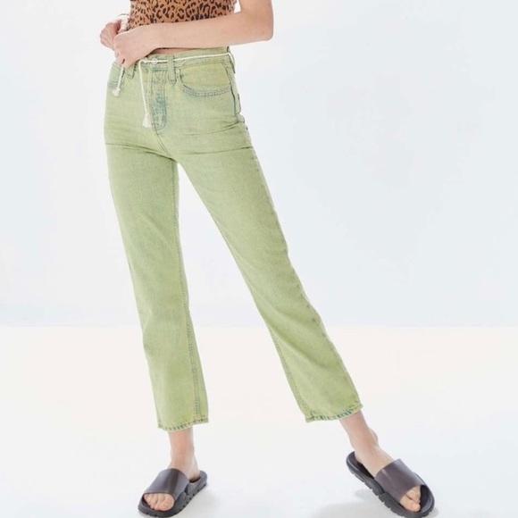 Green Acid-Wash BDG Jeans